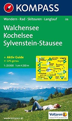 Walchensee, Kochelsee, Sylvenstein-Stausee. 1 : 25 000: Wanderkarte mit Kurzführer, Radrouten und Skitouren. GPS-genau und Aktiv Guide