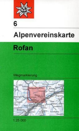 Rofan: Wegmarkierung: Topographische Karte (Alpenvereinskarten)