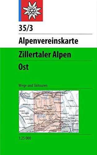 Zillertaler Alpen - Ost: Wege und Skitouren: Topographische Karte. Wegmarkierungen und Skitouren (Alpenvereinskarten)