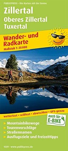 Zillertal - Oberes Zillertal, Tuxertal: Wander- und Radkarte mit Ausflugszielen & Freizeittipps, wetterfest, reißfest, abwischbar, GPS-genau. 1:35000 (Wander- und Radkarte: WuRK)