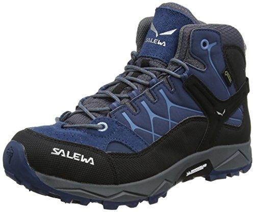 Salewa JR Alp Trainer Mid Gore-TEX Trekking-& Wanderstiefel, Dark Denim/Charcoal, 34 EU
