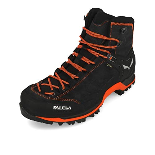 Salewa Herren MS Mountain Trainer Mid Gore-TEX Trekking-& Wanderstiefel, Asphalt/Fluo Orange, 43 EU