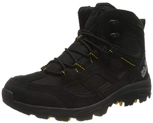 Jack Wolfskin Herren Vojo 3 Texapore MID M Outdoorschuhe, Black/Burly Yellow XT, 42 EU