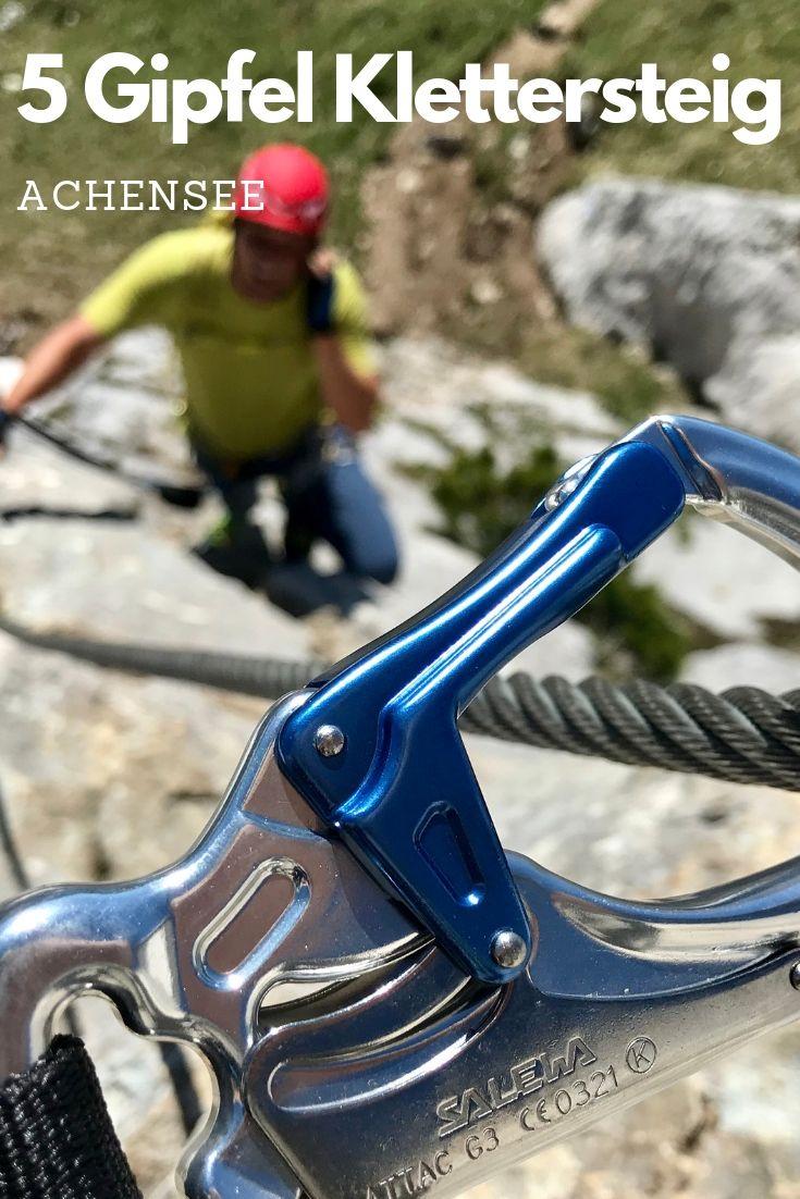 5 Gipfel Klettersteig Achensee - jeder Gipfel ist ein separater Klettersteig