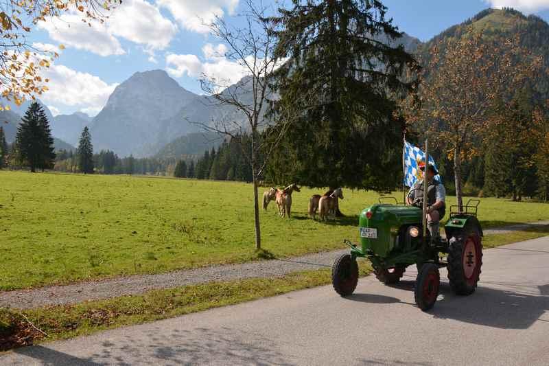 Die Achensee Mautstrasse zur Gernalm im Karwendel