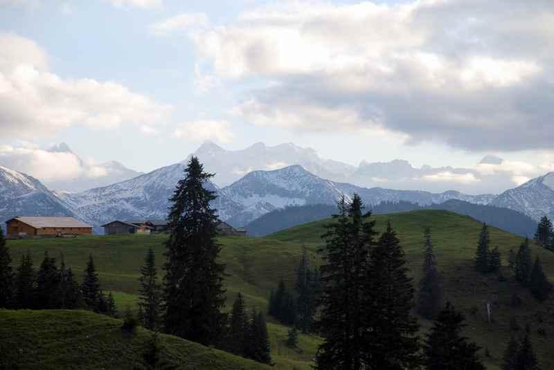 Von Achenwald auf die Rotwandalm unterhalb des Juifen im Karwendel