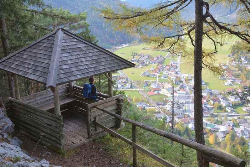 Auf die Adlerkanzel in Scharnitz wandern, im Karwendel