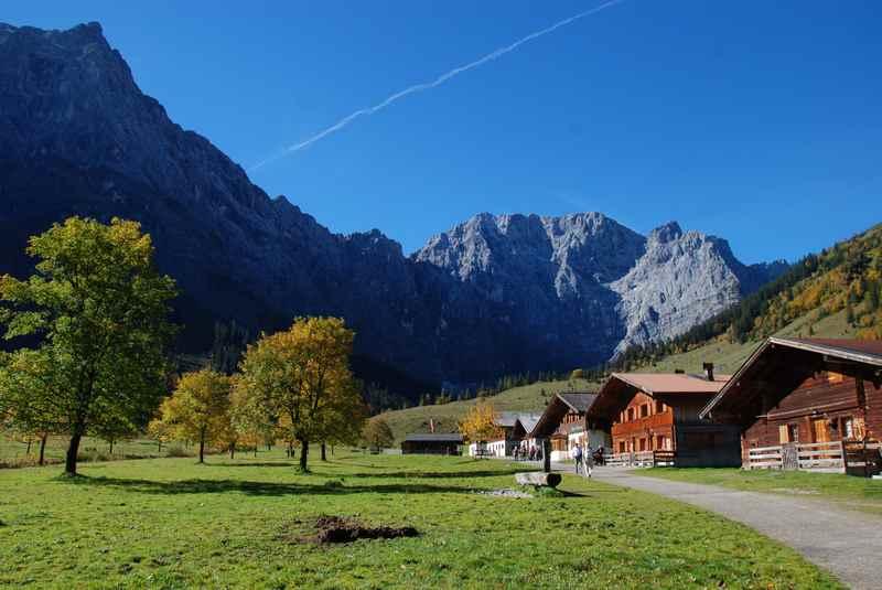 Auch das ist Vomp: Die Engalm am großen Ahornboden im Karwendel