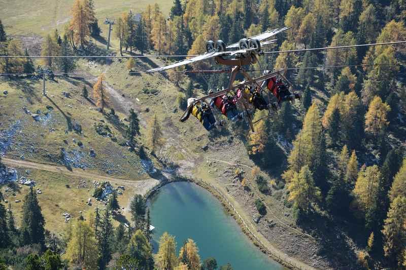 Der Air Rofan Skyglider - Freizeitvergnügen besonders für Teenager im Rofan