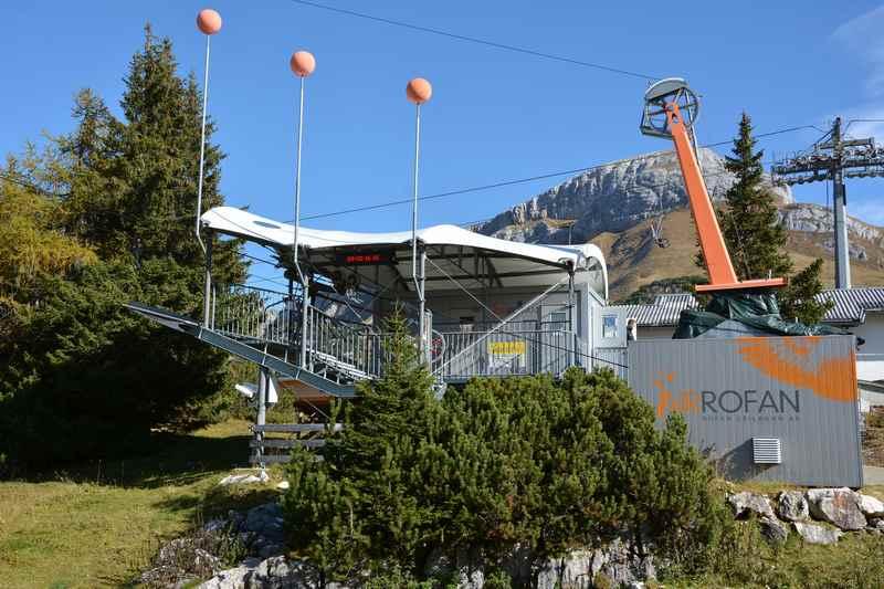 Die Air Rofan Talstation - hier ist der Einstieg für alle Mitfahrer des Adlerflugs