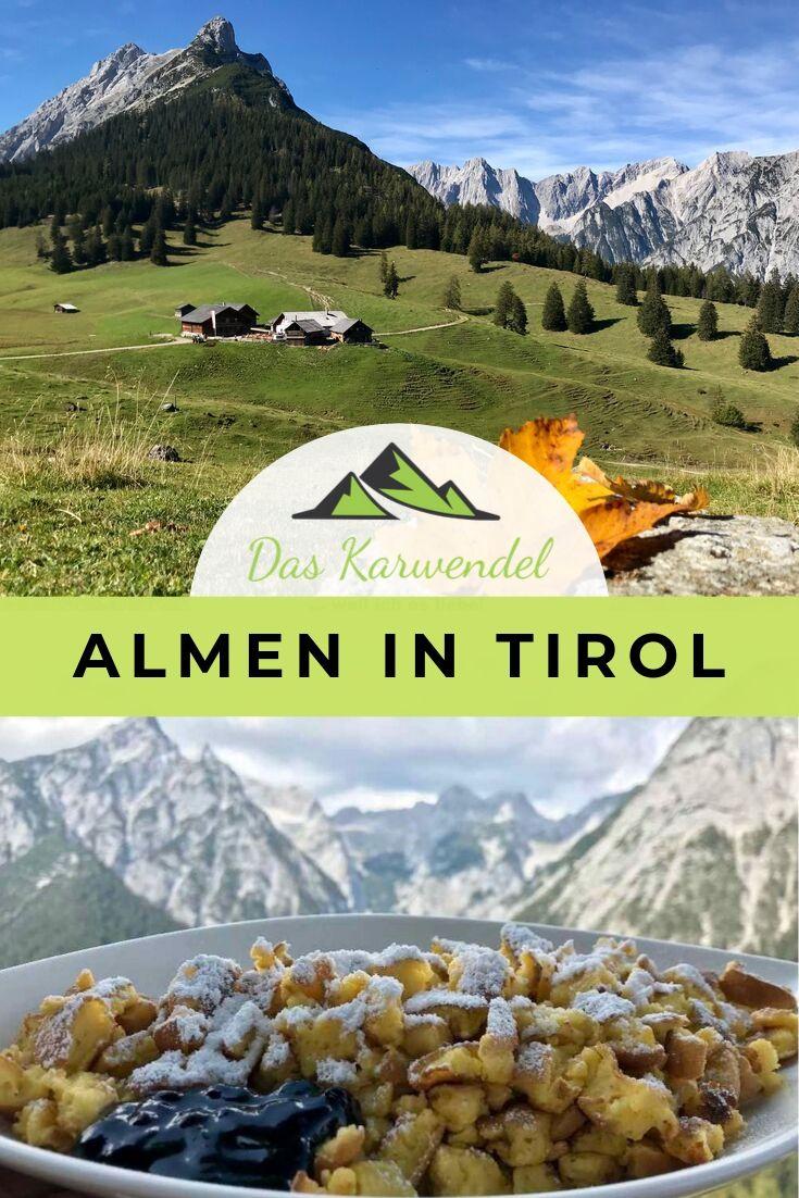 Almen Tirol merken für den nächsten Tag am Berg