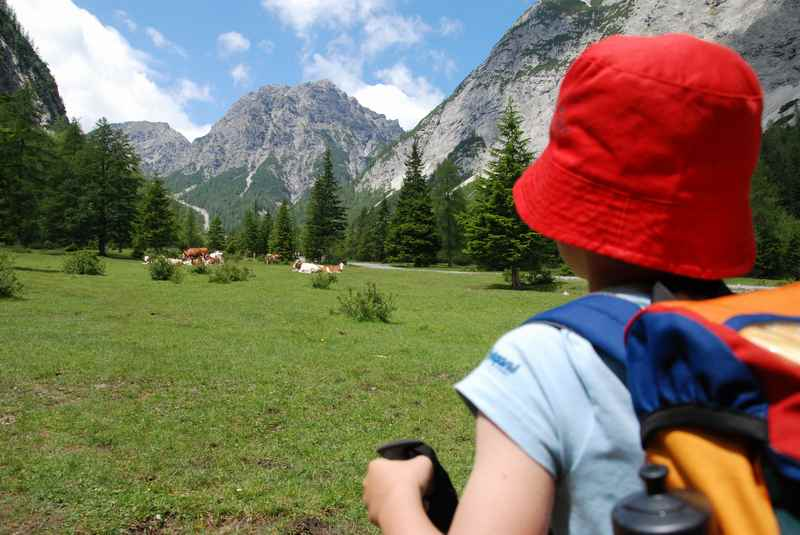 Hüttenwanderung mit Kindern - unbedingt vorher üben!