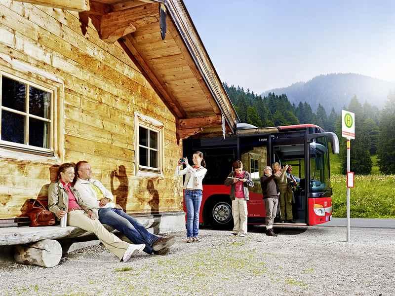 Anreise Karwendeltour - mit dem Bus in die Berge, Bild RVO, Fotograf: Petra_Steinmüller
