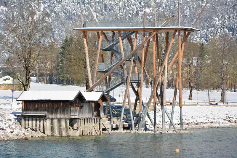 Winterwandern zum Aussichtsturm in Pertisau am Achensee