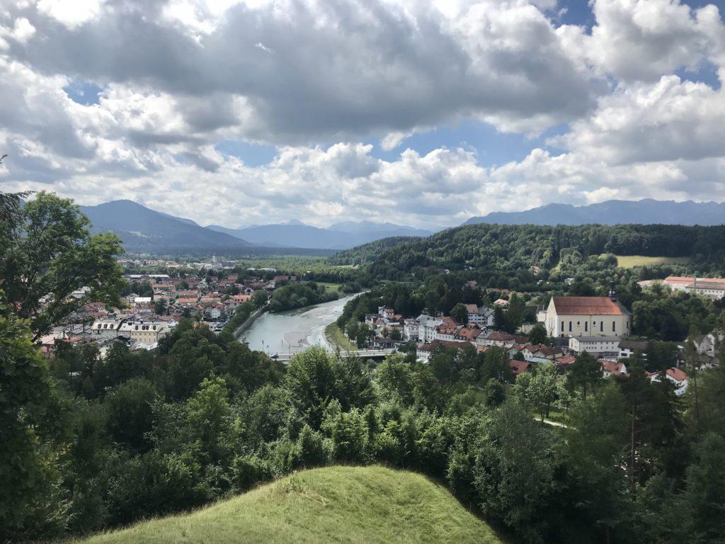 Bad Tölz Sehenswürdigkeiten von oben am Kalvarienberg