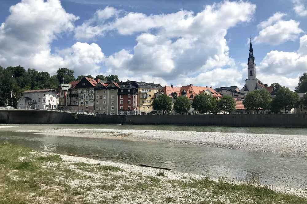 Die Isar und das Isartal in Bad Tölz