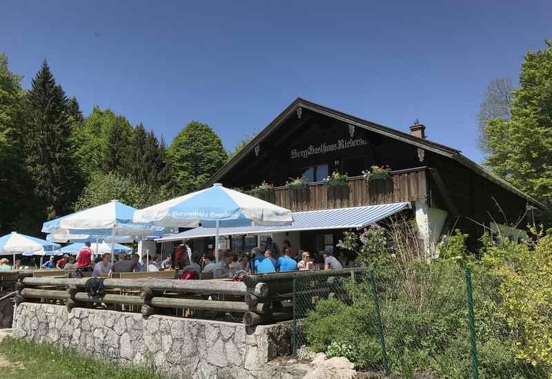 Das Berggasthaus Galaun, unser Zwischenziel der Riederstein Wanderung
