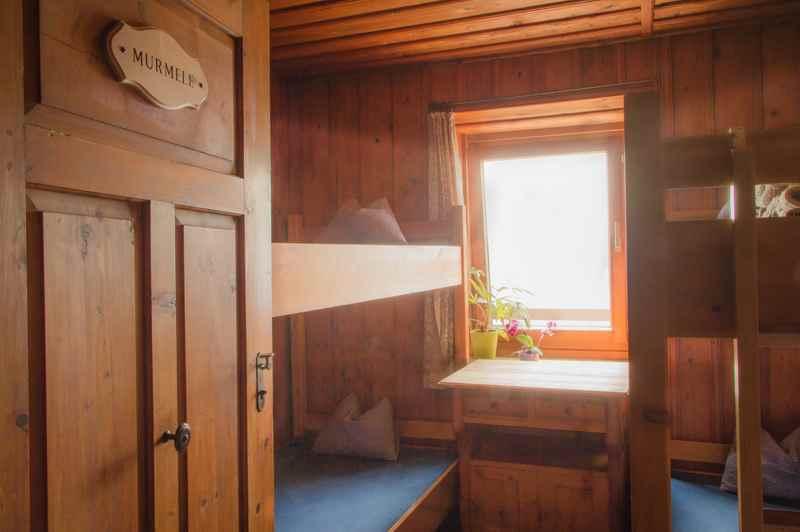 Die Zimmer in der Bettelwurfhütte im Karwendelgebirge