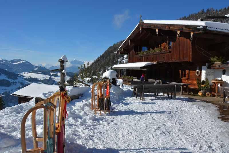 Früher mal Rodelbahn - heute ein Luxus Chalet zum Mieten für deinen Alpbachtal Urlaub: Die Bischofer Alm