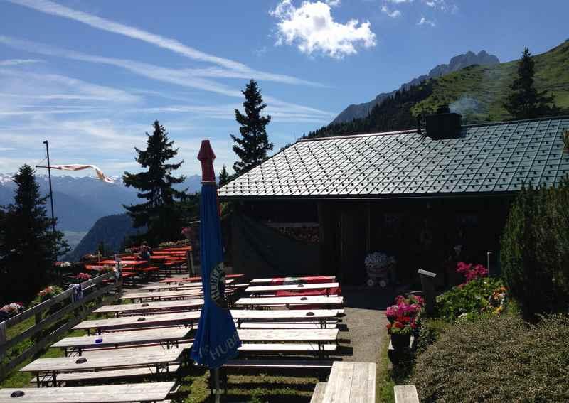 Die Bodensteinalm in Innsbruck auf der Nordkette, unterhalb der Seegrube im Karwendel