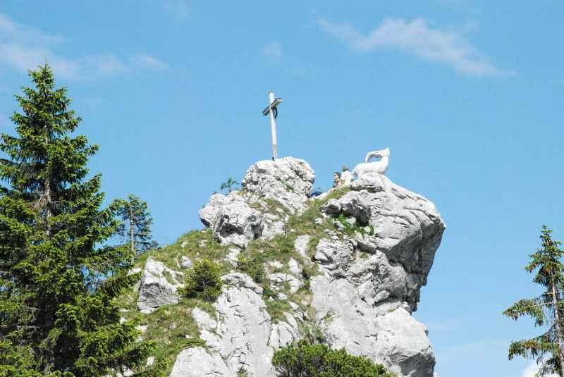 Auf dem Brauneck wandern in Lenggries - zum Steinbock aus Stein...