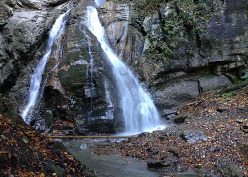 Wandern in Buch zum Bucher Wasserfall