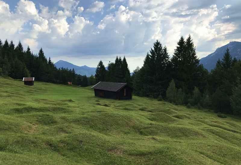 Das sind die Buckelwiesen - bei der Kranzberg Wanderung in Richtung Wildensee