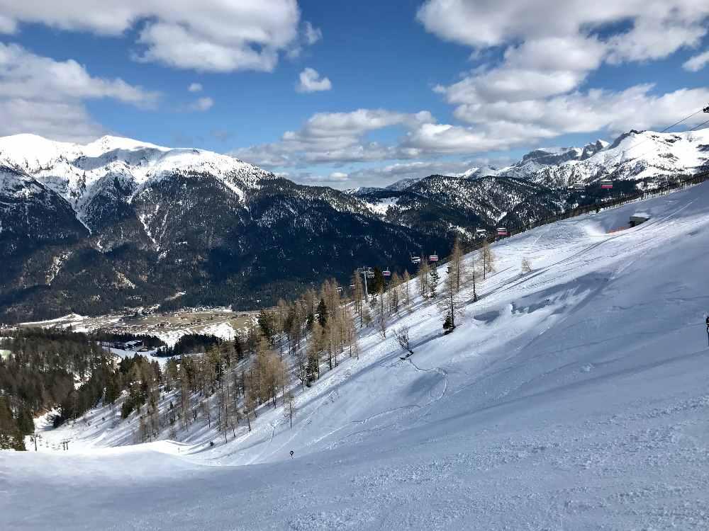 Die Christlum Skitour - mit Blick auf einen Zipfel vom Achensee