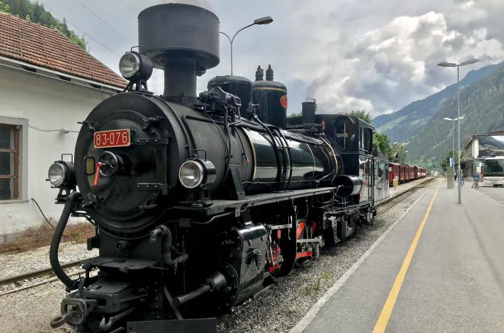 Der Dampfzug der Zillertalbahn