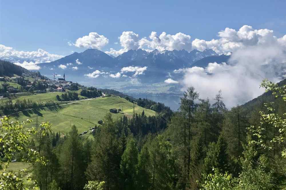 Auffahrt zum Gschwandtkopf Seefeld: Das ist das Panorama - Wahnsinn oder? Und das ist nicht mal auf dem Gipfel ...
