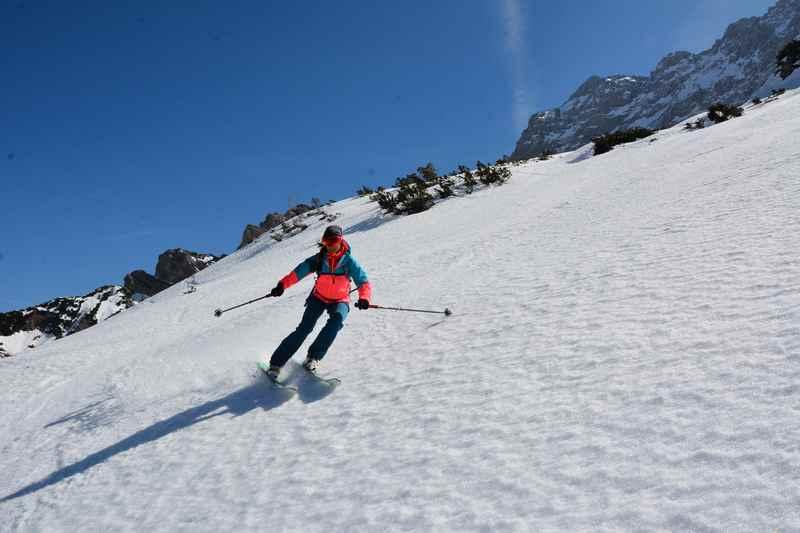 Die Abfahrt unserer Skitour von der Hochglückscharte