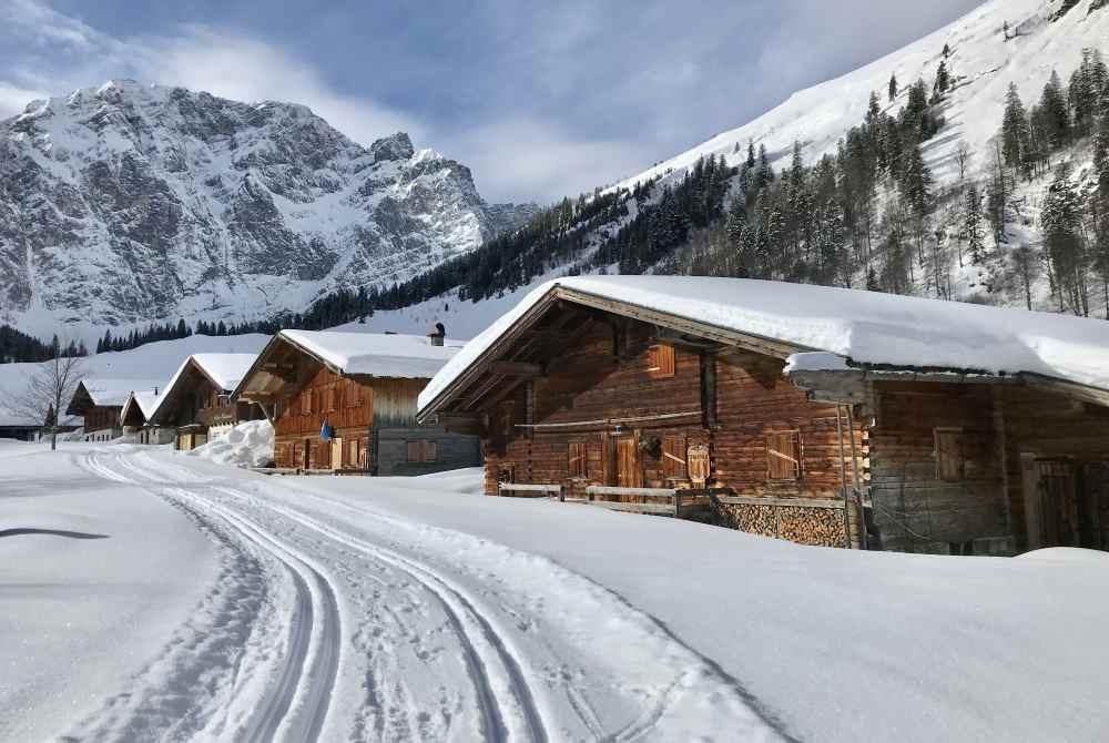Am Ahornboden zur Engalm langlaufen im Karwendel