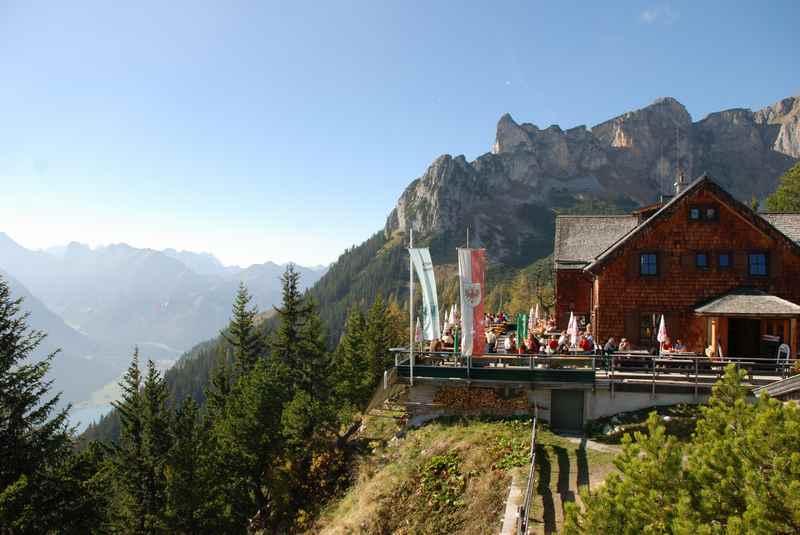 Die Erfurter Hütte am Achensee