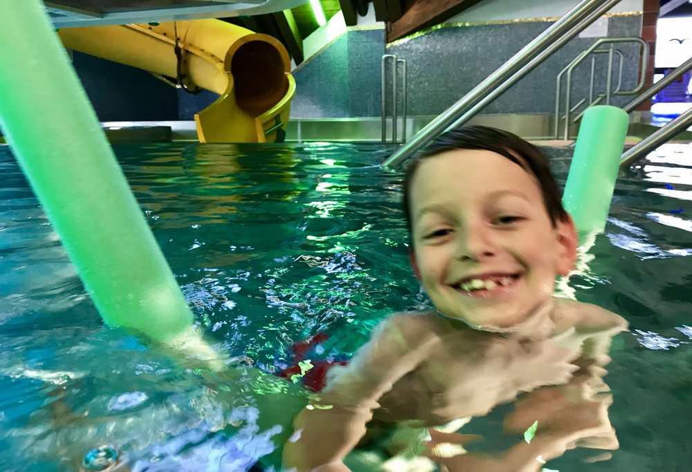 Hier hatte unser Kleiner viel Spaß im Familienhotel Seefeld mit Schwimmbad