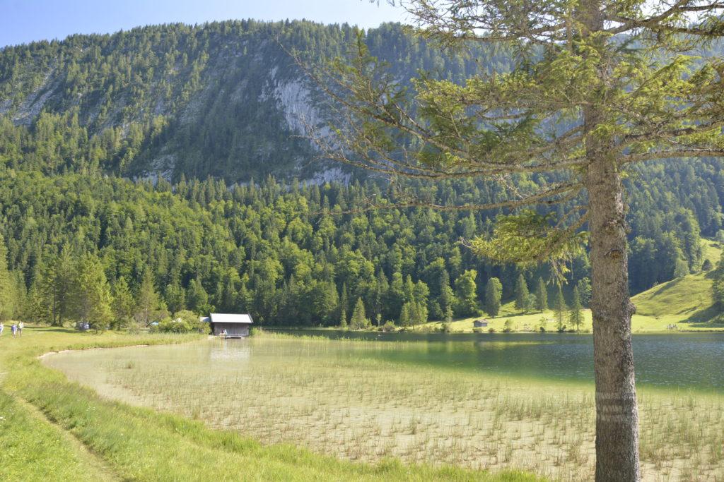 Am Ferchensee Ufer Richtung Mittenwald wandern