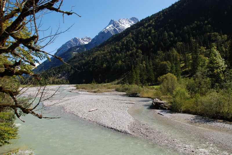 MTB Vereiner Alm:  Von Hinterriß am Rißbach mountainbiken im Karwendel