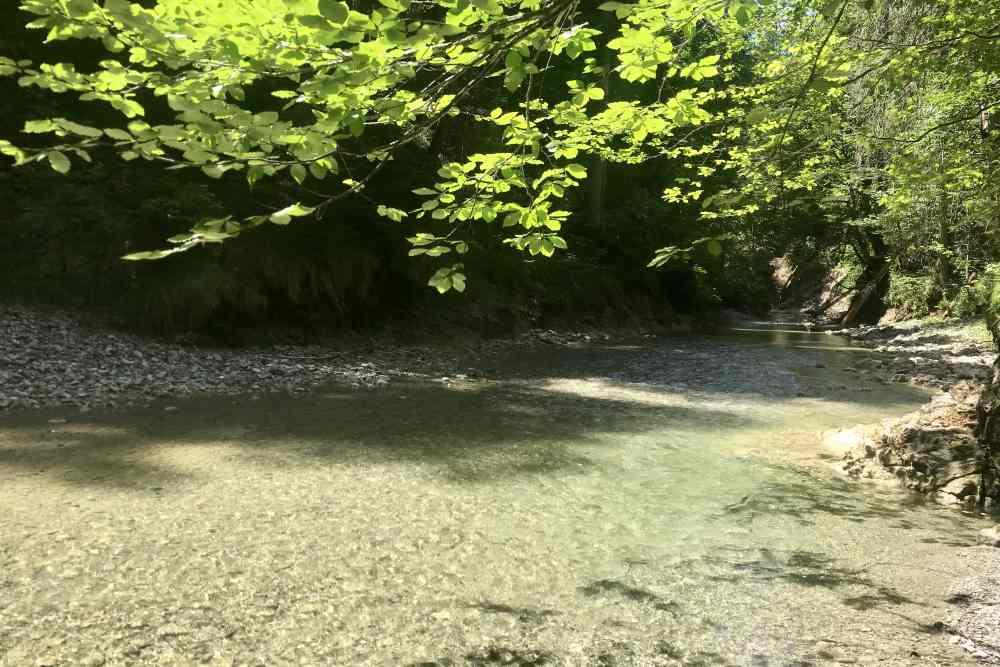Hier endet die Wanderung am Wasser in der Finzbachklamm
