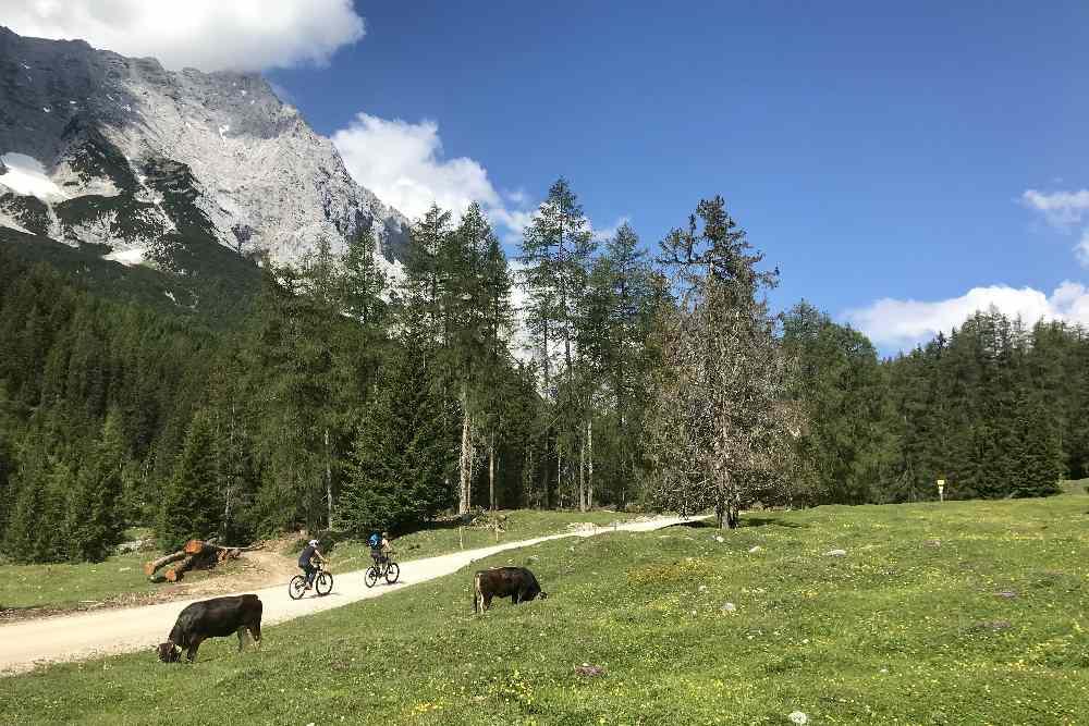 Durch das Gaistal mountainbiken, fern vom Verkehr - ein Traum!