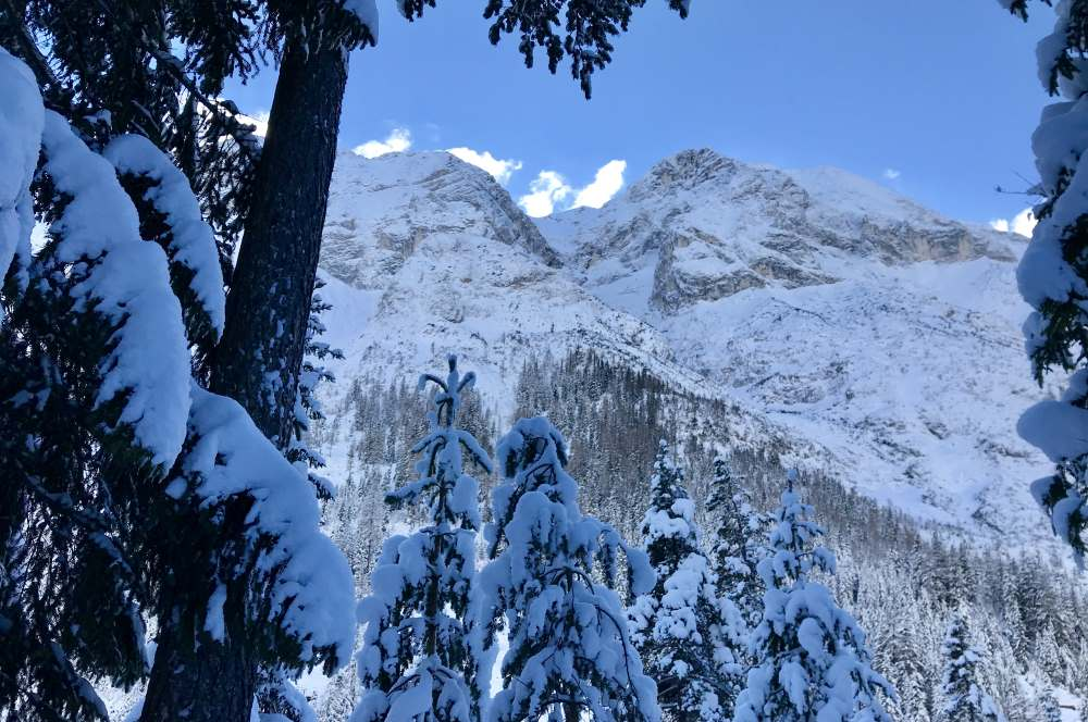 Es hat soviel Schnee! Toll ist das Gaistal im Winter zum Wandern