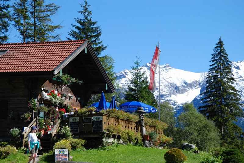 Die Garberlalm - Hütte im Gebiet des Ahornboden im Naturpark Karwendel