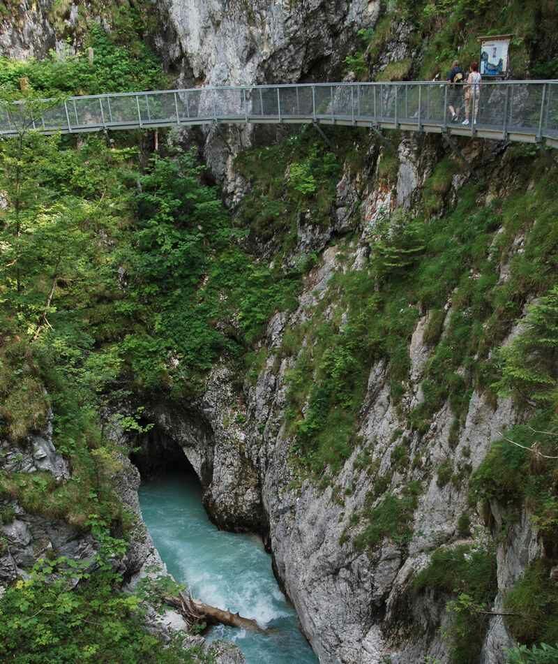 Die Geisterklamm zwischen Mittenwald und Leutasch