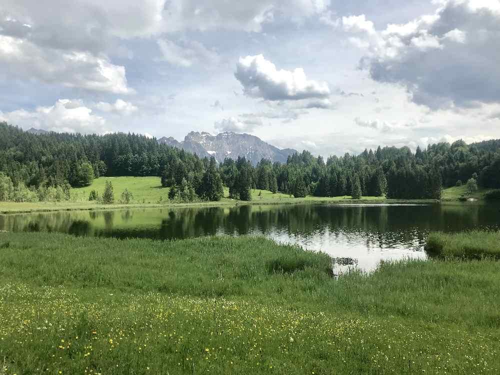 Der Geroldsee mit dem Karwendel