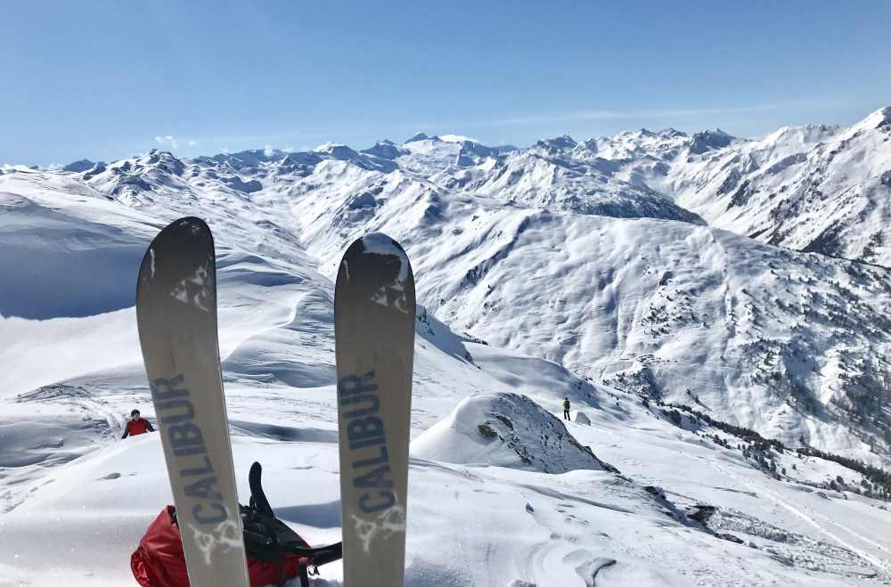 Gilfert Skitour - Das ist der grandiose Ausblick zum Alpenhauptkamm