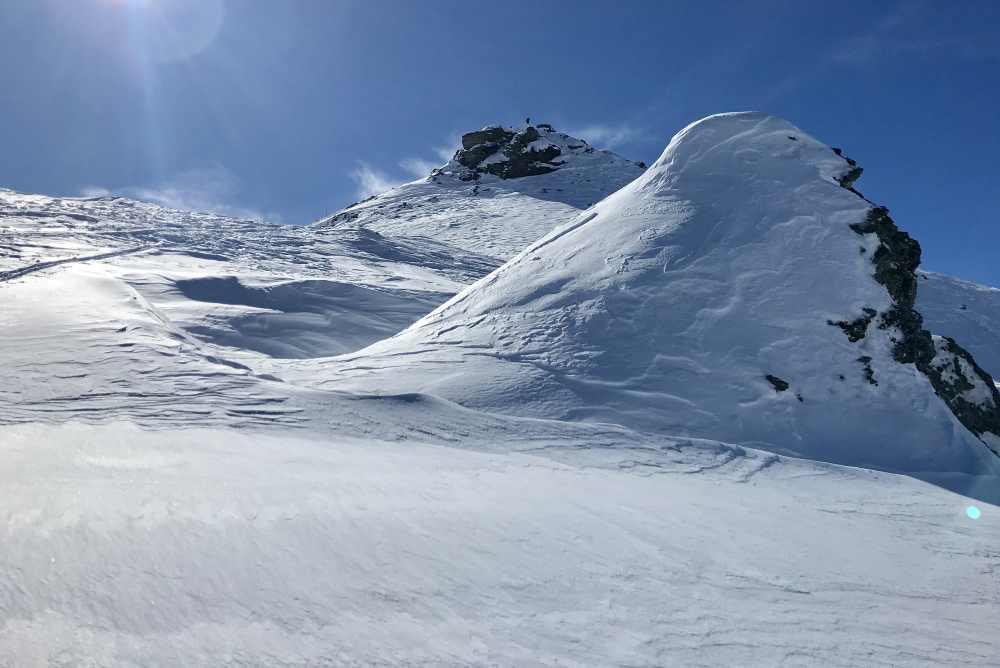 Kleiner Gilfert Skitour - kurz vor dem Gipfel