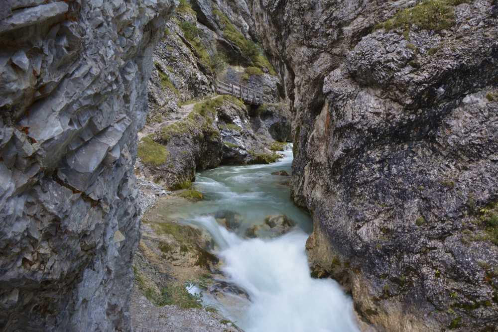Der Abenteuerweg für Kinder durch die Gleirschklamm im Karwendel