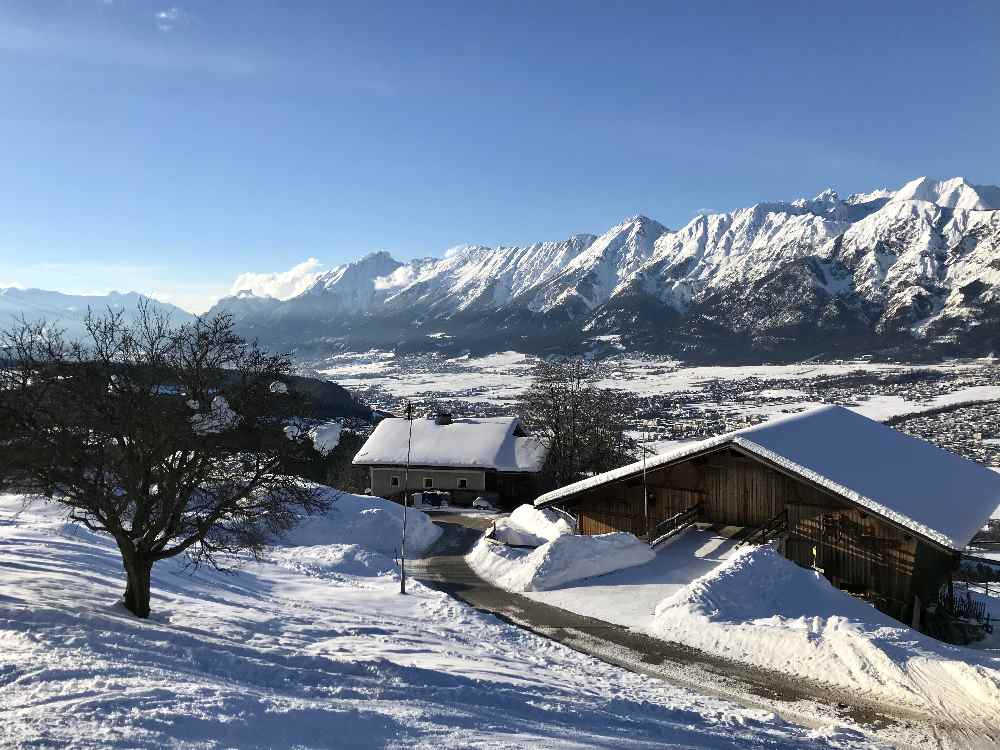 So schön ist das Panorama auf das Karwendel bei der Glungezer Skitour