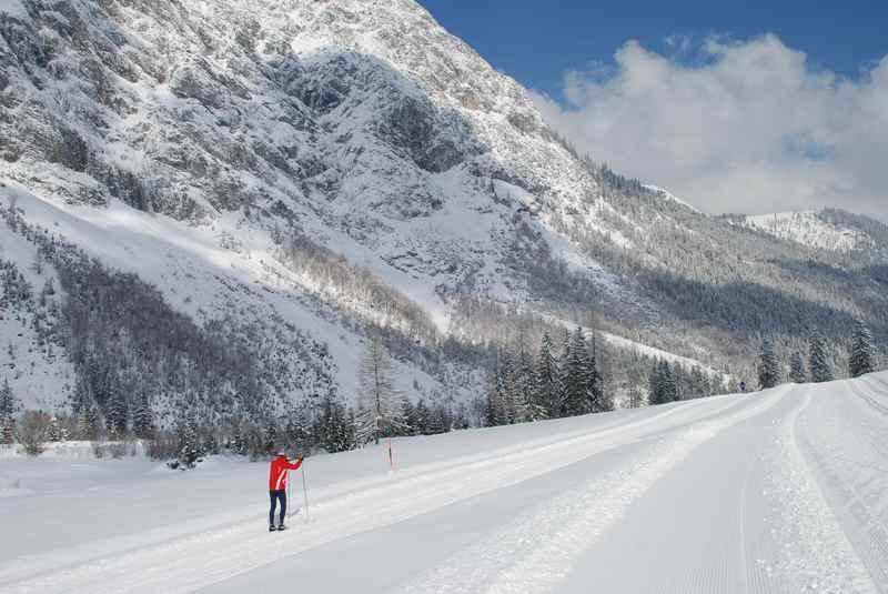 Von Pertisau am Achensee langlaufen zur Gramaialm im Karwendel