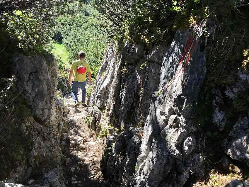 Toll - der Steig zur Haidachstellwand durch die Felsen!