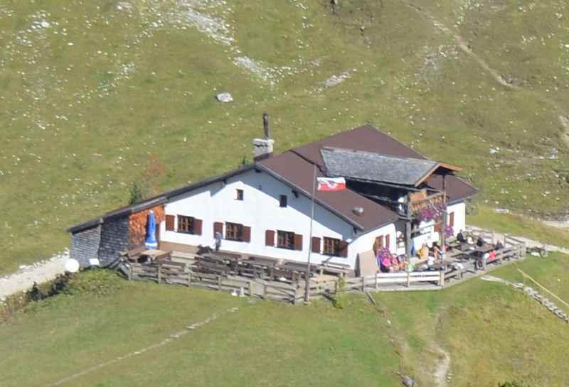 Das Hallerangerhaus ganz hinten im Hinterautal, im Karwendel