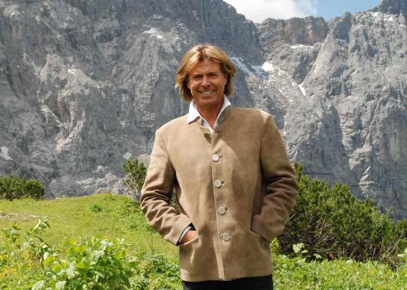 Hansi Hinterseer bei seinen Dreharbeiten im Karwendel